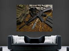 M16 machine gun Poster Army Military couteau Balles IMAGE GIANT PRINT ART