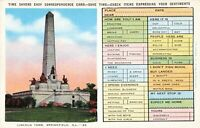 Postcard Time Savers Card Lincoln Tomb Springfield Illinois