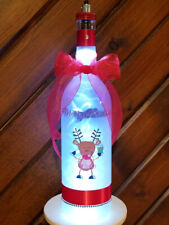 Rudolph Red Nosed Reindeer Christmas Lamp Graphic Ornament Led Wine Bottle Light