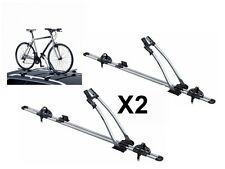 2 x THULE FREERIDE 532 ROOF MOUNTED CYCLE CARRIERS BIKE BICYCLE MOUNTAIN ROAD