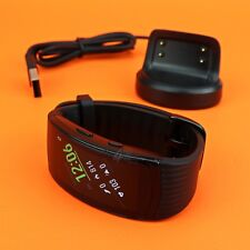 Samsung Gear Fit2 Pro Fitness Smartwatch SM-R365 Aluminum Case Black Small size