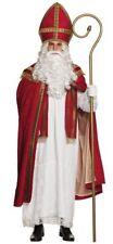 Mens Saint Nicholas Costume Adult Father Christmas Santa Claus Fancy Dress