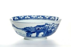 Early 19th century Chinese Blue and White Porcelain Blow