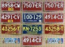 10 MICHIGAN Colored License Plates Tags Crafts Art Man Cave Decor 1 PAIR LOT 507