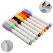8 PCS Colorful Magnet Pens Magnetic Dry Wipe White Board Markers Built In Eraser