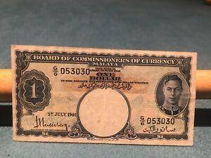 Malaya & British Borneo 1941 $1