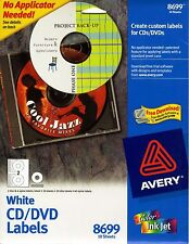 Avery Matte White CD Labels for Inkjet Printers, 20 Face Labels and 40 Spine