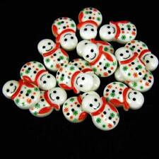 Christmas Cup Cake decorations, Toppers Xmas Small Snowman x 10