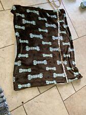 Dog Bone Fleece Blankey 34 X 26