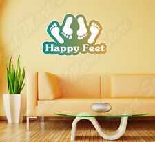 """Happy Feet Bed Time Adult Sex Funny Wall Sticker Room Interior Decor 25""""X18"""""""