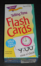 Telling Time Flash Cards by Trend Enterprises (New in Package!) Freee Shipping!
