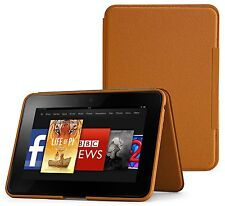 Standing Leather Cover, Saddle Tan for Amazon Kindle Fire HD 8.9 (LN)