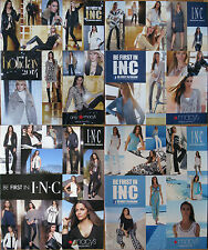 Lot of 5 International Concepts INC Catalogs Macy's Camila Alves Anne Vyalitsyna