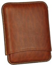 MARTIN WESS NATURAL SMOOTH GOATSKIN / COWHIDE LEATHER CIGARILLO CIGAR CASE *NEW*