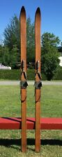 """New listing Lovely OLD Wooden Skis 80"""" Snow NICE COUNTRY DECOR!"""