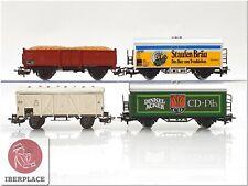 H0 1:87 escala ho trenes vagones mercancias cars AC Märklin Set 4x <