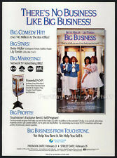 BIG BUSINESS__Original 1989 Trade print AD movie promo__BETTE MIDLER_LILY TOMLIN