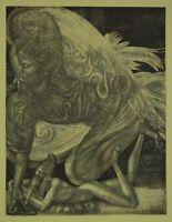Ernst FUCHS (geb. 1930) Radierung aus dem Zyklus Samson