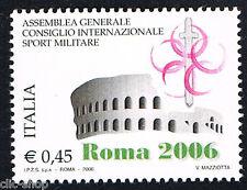 ITALIA 1 FRANCOBOLLO SPORT MILITARE ROMA 2006 nuovo**