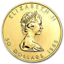 1985 Canada 1 oz Gold Maple Leaf BU - SKU #74655