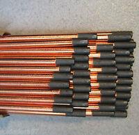 50 Electrodos Grafito 6,36x305mm Cobrizado Arco Aire Gubiado Achaflanar Marcaje