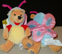 DISNEY DS Butterfly POOH BEAR Costumed EASTER 2000 Bean Bag Toy Plush MWMT NEW!