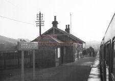 PHOTO  LNER EDDLESTON RAILWAY STATION VIEW TAKEN FROM A TRAIN 3/2/62 PEEBLES RAI