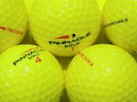 50 Mixed PINNACLE YELLOW Lake Golf Balls - PEARL / AAA - from Ace Golf Balls