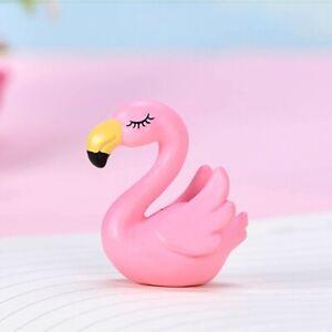 Squats Flamingo Small Figure Micro Ornament for Crafts Miniatures DIY Garden