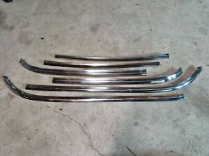 HOLDEN HJ HZ HX WB HQ FRONT WINDSCREEN CHROME STAINLESS MOULDS WINDOW TRIM