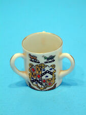 Temple Crested China Three Handled Cup - Limpsfield