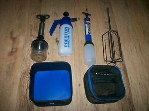 preston innovations pellet wetter & bait sprayer plus g/bait whisk & pellet pump