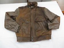 Used Vtg Rage Brown Game Thrones Leather Motorcycle Bomber A2 Jacket Coat Sz 42
