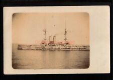 More details for malta h.m.s. goliath british warship real photo postcard 190? - ma623