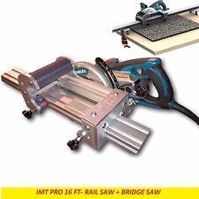 IMT PRO Wet Cutting Makita Motor Rail + Bridge Saw Combo for Granite -16 Ft Rail