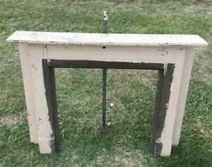 Antique Wood Fireplace Mantel Suround Architectural Salvage Victorian Rustic A47