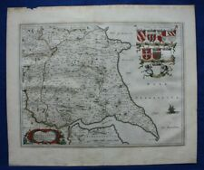 EAST YORKSHIRE antique map, 'DUCATUS EBORACENSIS PARS ORIENTALIS', Blaeu, c.1645