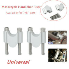 "2*Universal Refit Motorcycle ATV CNC 7/8"" Handlebar Riser 22mm Bar Clamps Mount"