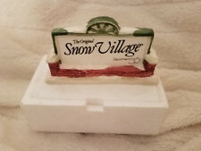 SNOW VILLAGE Department 56 Advertising Store Display Plaque