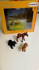 Schleich - lot de 3 Figurines bébé animaux de la forêt -produit Neuf - collector