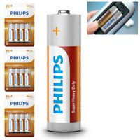 12 Pack AA Philips Zinc Chloride Batteries R6 1.5V Super Heavy Duty Use Double A
