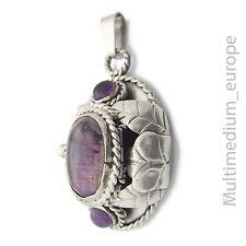 Silber Medaillon Anhänger R.Luco Taxco Amethyst Mexico silver pendant 🌺🌺🌺🌺🌺