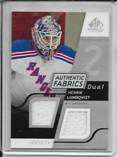 08-09 SP Game Used Henrik Lundqvist Authentic Fabrics Dual Jersey