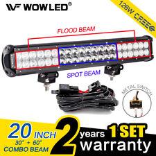 Wow - 20 pulgadas 126W Cree LED Spot inundación Trabajo Techo Luz Barra OFFROAD + Kit de cableado