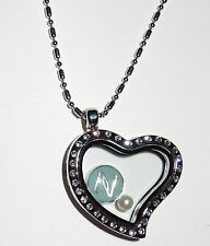 Inspired Nerium Heart Floating Charm Locket yes fits Origami Owl Floating Charm