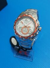 chronotech chronograph submarine full stainless steel,silver orange