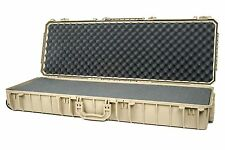 Seahorse SE1530F TAN Gun case. With foam (Solid) &  Pelican TSA- 1720 Lock
