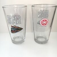 Lot Of 2-Southern Tier Brewing Pint Glass Right O Way IPA Limited Edition Beer