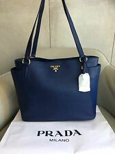 BNWT PRADA vitello Daino 1BG970 Bluette (BLUE) shoulder shopping bag