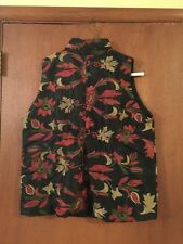 JACQUES RUC VEST EMBROIDERED Sz 3 VINTAGE
